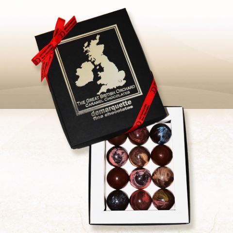 Demarquette, Great British Orchard, 12 Fruit Caramels